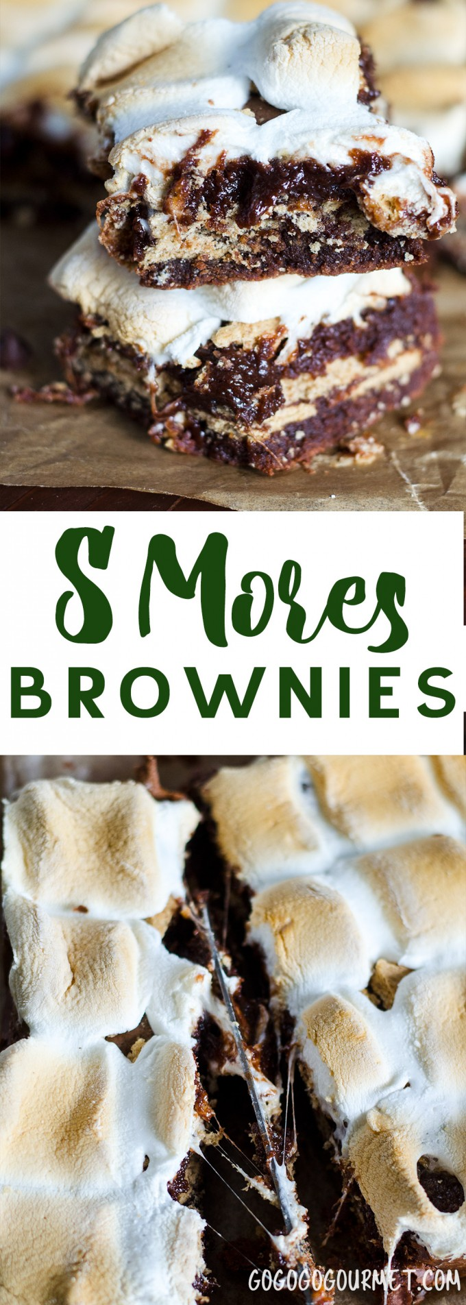"""There's no better dessert than an easy dessert, and these S'mores brownies are always gone faster than you can say """"Make 'smore' brownies please!"""" via @gogogogourmet"""