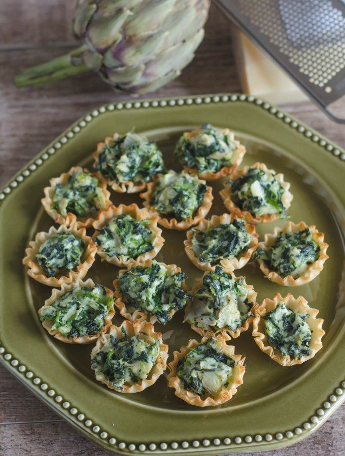 Baked Spinach Artichoke Dip Phyllo Cups