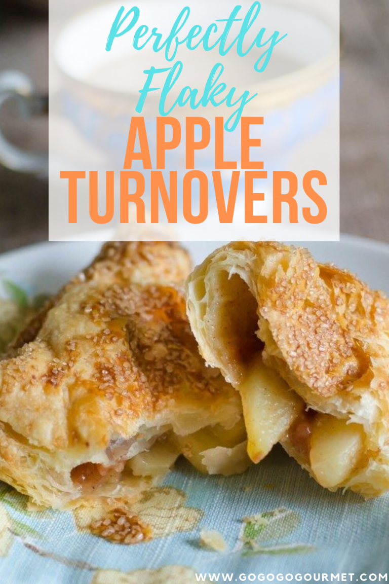 These flaky Apple Turnovers are made super easy with puff pastry! With a homemade apple pie filling, fall desserts don't get any better than these! #gogogogourmet #appleturnovers #falldesserts #applerecipes via @gogogogourmet