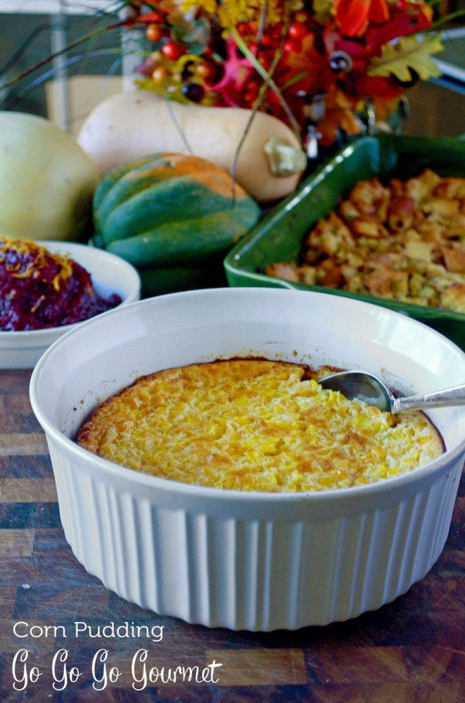 Corn Pudding Thanksgiving | @gogogogourmet