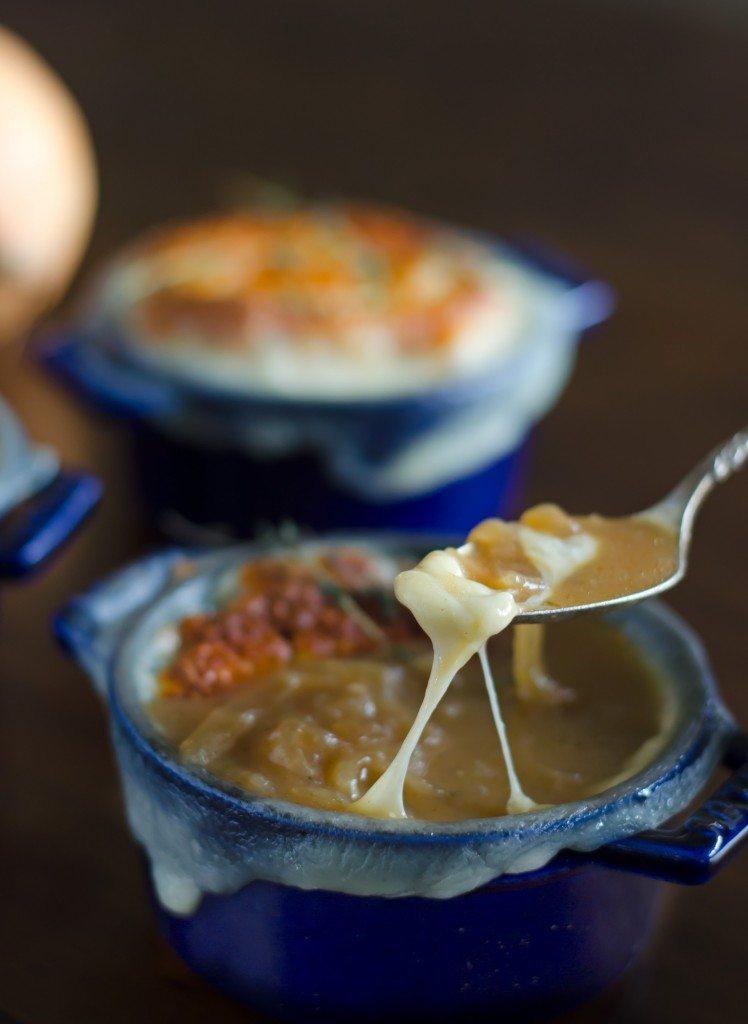 French Onion Soup au Gratin   Go Go Go Gourmet @gogogogourmet