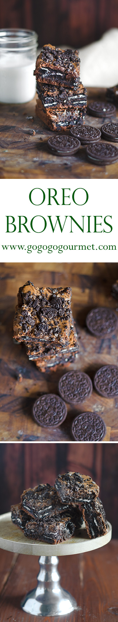 This Oreo Brownies recipe is totally out of this world! Just a few pantry ingredients for a fudge brownie stuffed with Oreos- or use a box mix! |