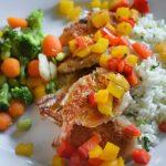 Coconut Shrimp with Mango Bell Pepper Salsa | Go Go Go Gourmet @gogogogourmet