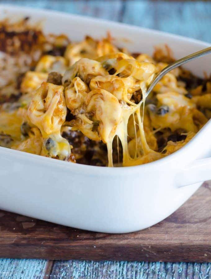 Cheesy Enchilada Tortellini   Go Go Go Gourmet @gogogogourmet