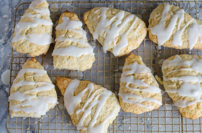 Glazed Lemon Ginger Scones | Go Go Go Gourmet @gogogogourmet