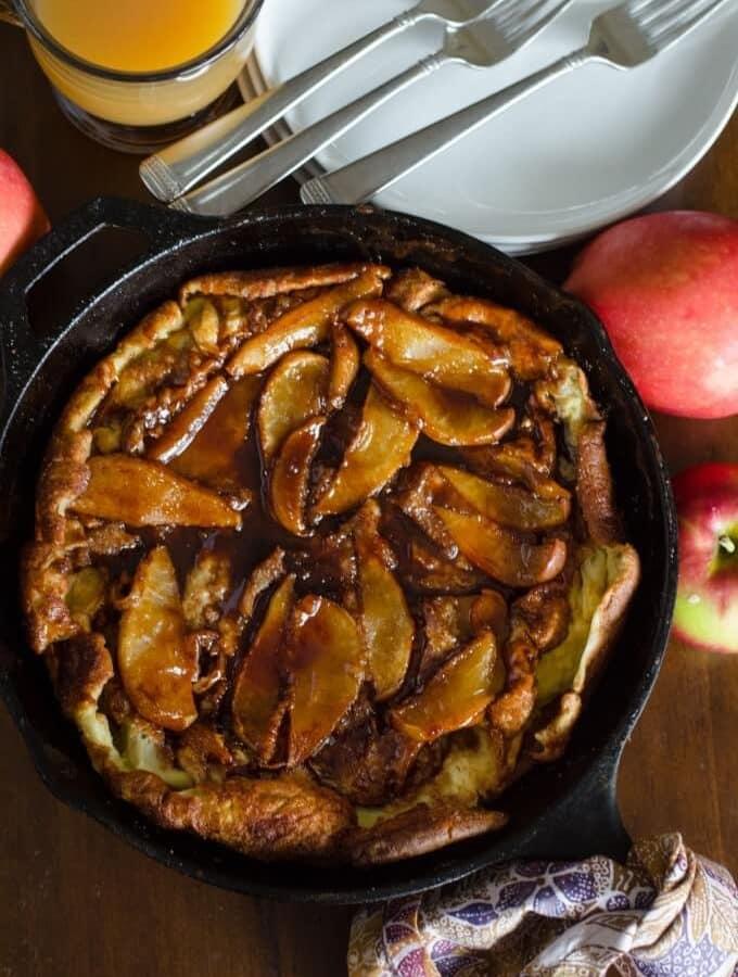 Oven Baked Apple Pancake