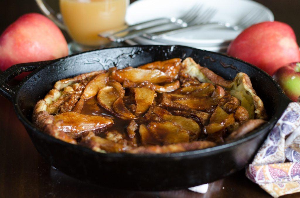 Oven Baked Apple Pancake | Go Go Go Gourmet @gogogogourmet