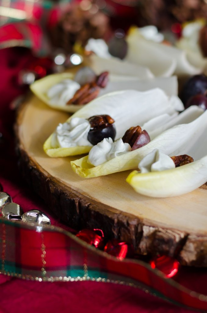Endive with Blue Cheese Mousse- a beautiful and easy appetizer!   Go Go Go Gourmet @gogogogourmet