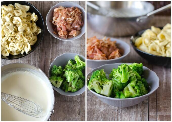 Copycat Olive Garden Alfredo Loaded Tortellini Alfredo Dinner | Go Go Go Gourmet @gogogogourmet