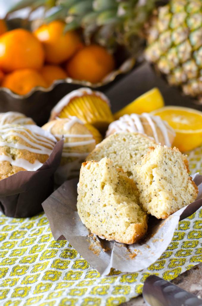 Pineapple Orange Poppyseed Muffins   Go Go Go Gourmet @gogogogourmet