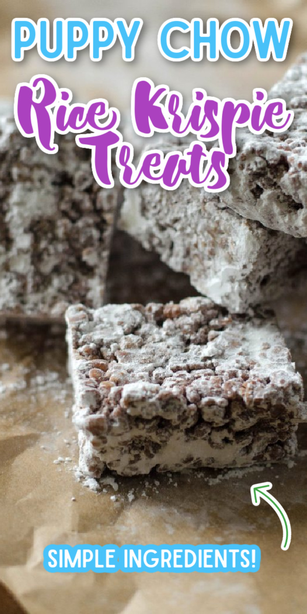 Whether you call them Muddy Buddies or Puppy Chow- these Rice Krispie Treats are nothing but DELICIOUS! @gogogogourmet via @gogogogourmet