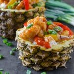 Sweet and Sour Chicken in Pineapple Bowl   Go Go Go Gourmet @gogogogourmet
