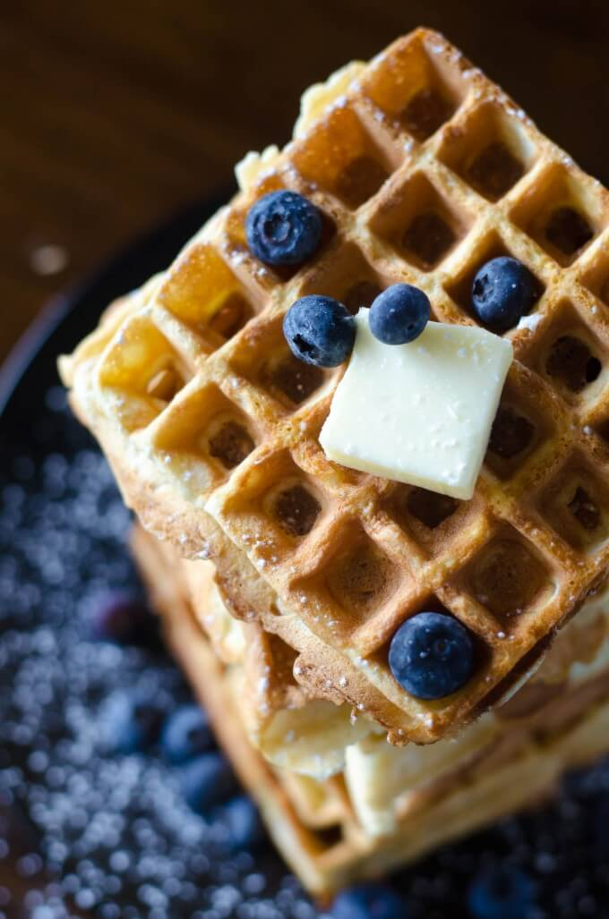 Crispy and light, these Belgian Waffles are the ultimate! Crispy Belgian Waffles | Go Go Go Gourmet @gogogogourmet