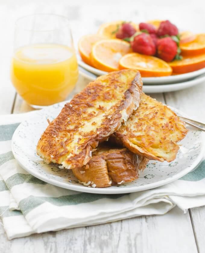 Hummingbird Tropical Coconut French Toast | Go Go Go Gourmet @gogogogourmet