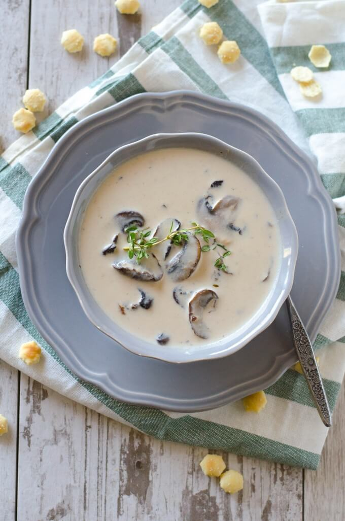 Smooth, creamy, velvety- and EASY! Cream of Mushroom Soup | Go Go Go Gourmet @gogogogourmet