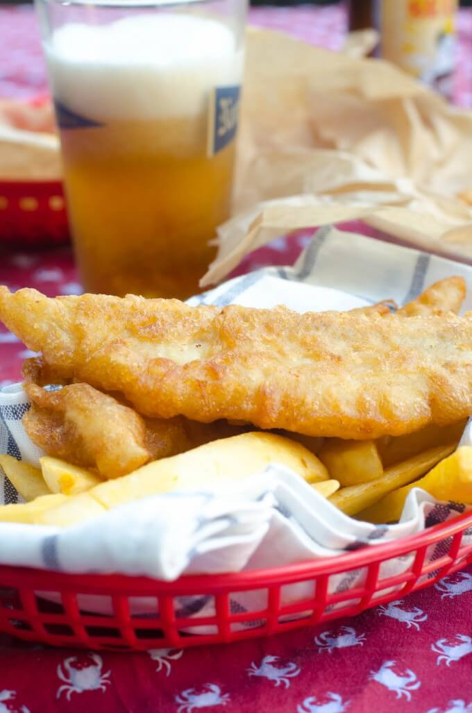 Beer battered fish and chips go go go gourmet for Fish and beer