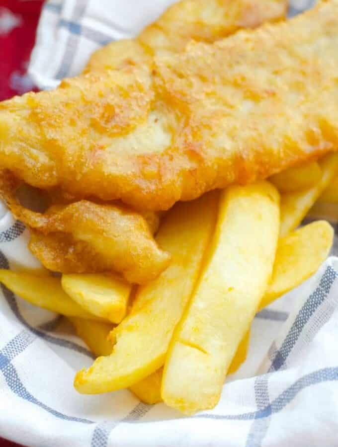 Beer Battered Fish and Chips   Go Go Go Gourmet @gogogogourmet