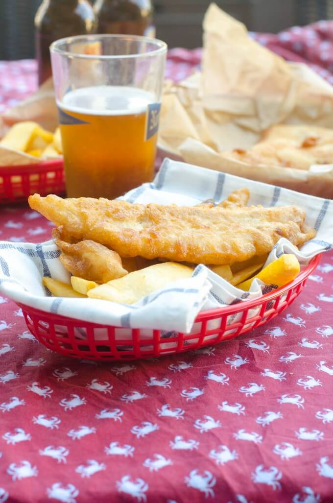 Beer Battered Fish and Chips | Go Go Go Gourmet @gogogogourmet