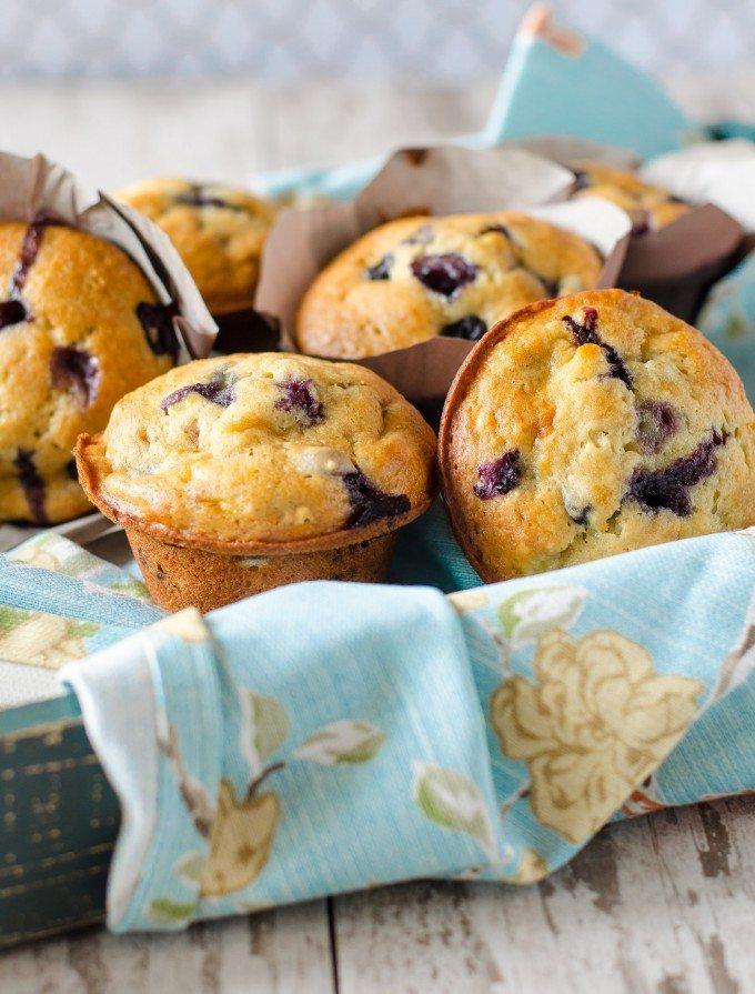 Banana Blueberry Muffins | @gogogogourmet