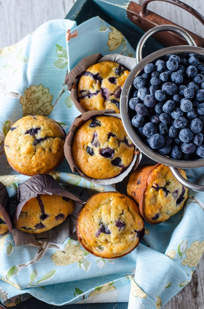 Banana Blueberry Muffins Recipe | @gogogogourmet