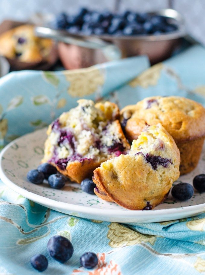Blueberry Banana Muffins | @gogogogourmet