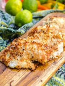 Coconut Fried Fish- snapper fillets lightly coated in a coconut crust and pan fried. Welcome to the tropics! | Go Go Go Gourmet @gogogogourmet