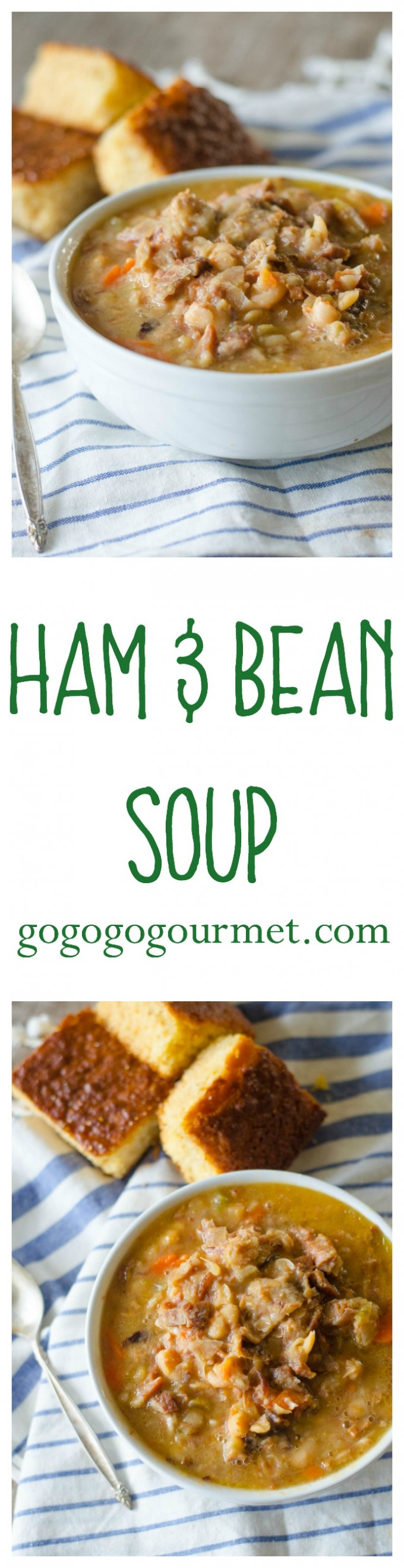 Who has leftover ham?? Here's the best way to put it to use! Ham & Bean Soup | Go Go Go Gourmet @Go Go Go Gourmet via @gogogogourmet