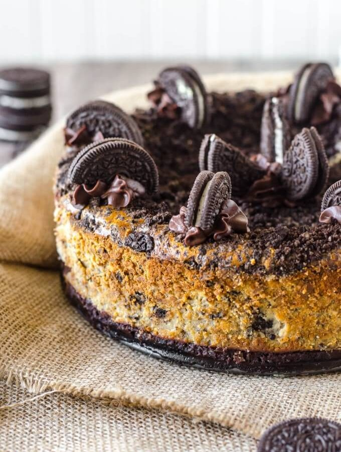Over the top decadent Oreo Cheesecake!   Go Go Go Gourmet @gogogogourmet