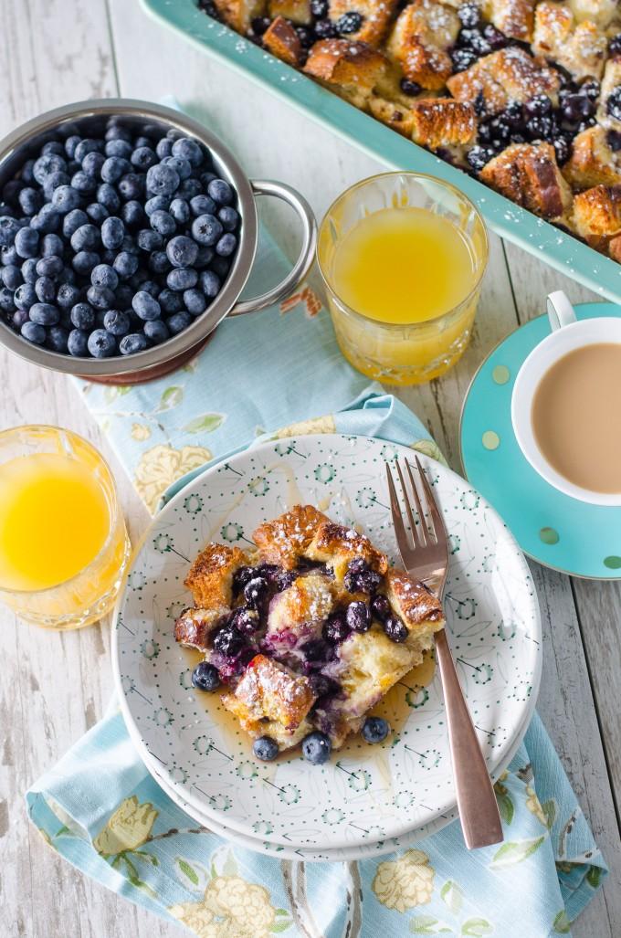Overnight Blueberry French Toast Casserole | Go Go Go Gourmet @gogogogourmet