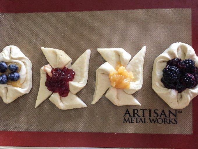 Flaky Danish Pastry using Croissant Dough   Go Go Go Gourmet @gogogogourmet