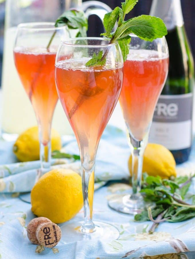 Fre Brut Champagne Pomegranate Lemon Sparkler Mocktail