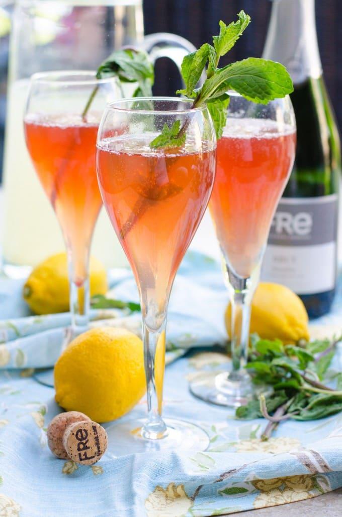 Fre Brut Champagne Pomegrante Lemon Sparkler Mocktail | Go Go Go Gourmet