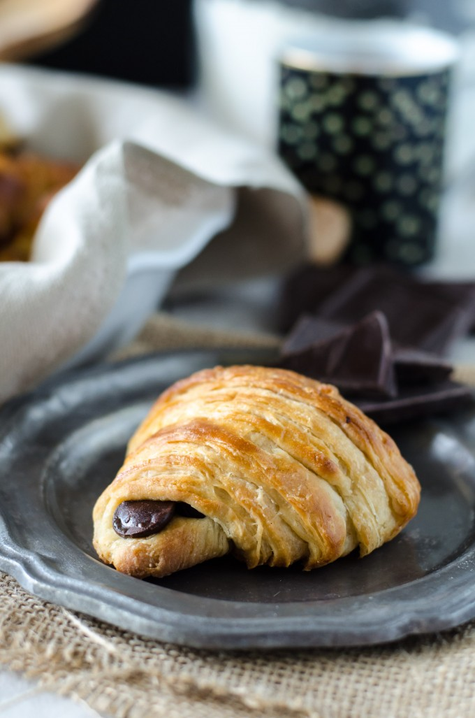 Pain au Chocolat Croissants | @gogogogourmet