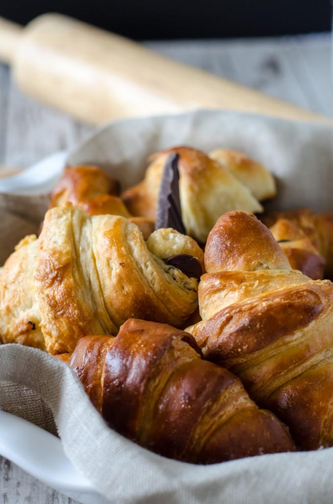 Pain au Chocolat (Chocolate Croissants) • Go Go Go Gourmet
