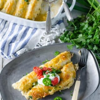 Poblano Chicken Enchiladas | Go Go Go Gourmet @gogogogourmet