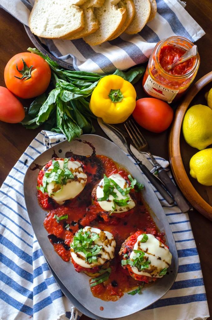 Grilled Polenta & Mozzarella-Stuffed Sausage Stacks | Go Go Go Gourmet @gogogogourmet