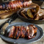 BBQ Bacon Wrapped Pork Tenderloin- great weeknight meal and only four ingredients! | Go Go Go Gourmet @gogogogourmet