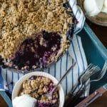 Blueberry Crisp  Go Go Go Gourmet @gogogogourmet
