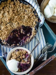 Blueberry Crisp |Go Go Go Gourmet @gogogogourmet