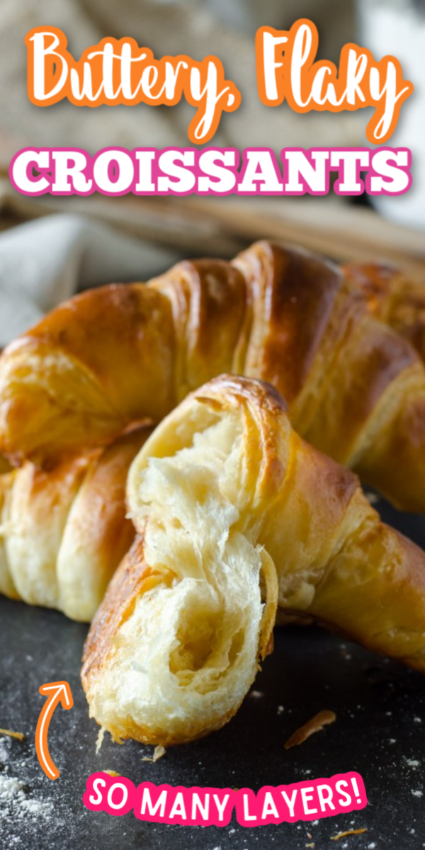 If you're looking for breakfast ideas, I've got you covered with these Flaky Butter Croissants! So much better than Pillsbury, this recipe is reminiscent of those authentic French bakeries! #gogogogourmet #flakybuttercroissants #croissantrecipe #homemadecroissants via @gogogogourmet