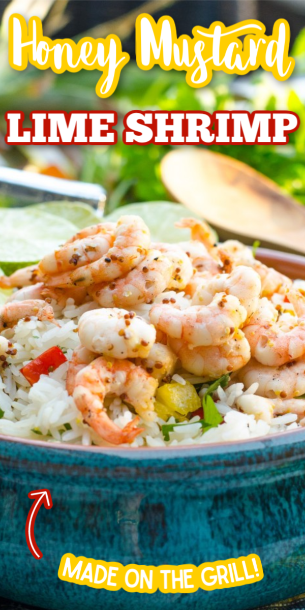 With a marinade of lime, mustard and honey, this Honey Mustard Lime Grilled Shrimp is one of the best easy shrimp recipes. Simply marinade, put them on skewers and throw them right on the grill! #gogogogourmet #honeymustardlimegrilledshrimp #grilledshrimp #limegrilledshrimp #easyshrimprecipes via @gogogogourmet