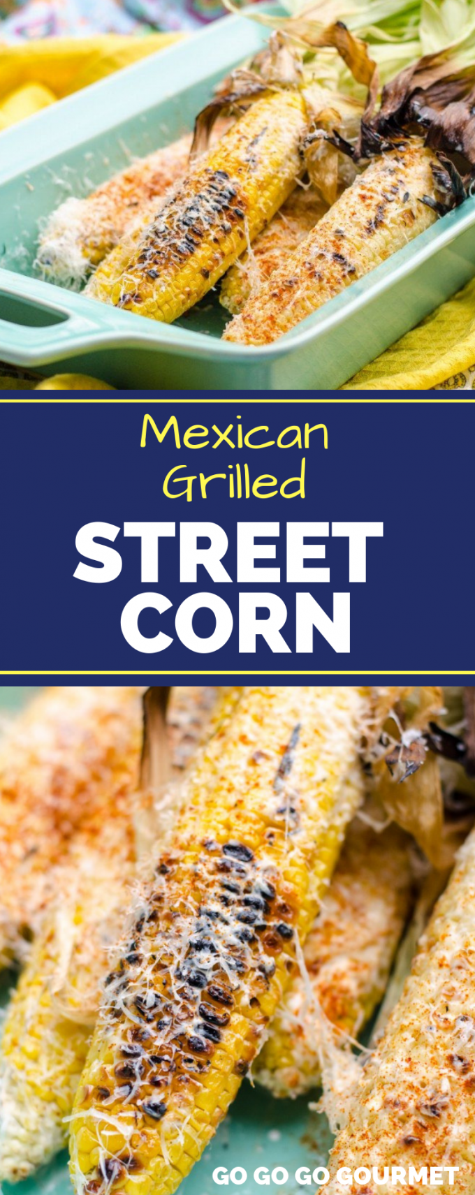 This easy Mexican Grilled Street Corn recipe is the perfect dish for summer! This authentic dish is packed with flavor, and can even be cut off the cob and turned into a salad! #gogogogourmet #mexicangrilledstreetcorn #mexicanstreetcorn via @gogogogourmet