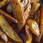 Seasoned Oven Baked Potato Wedges | Go Go Go Gourmet @gogogogourmet
