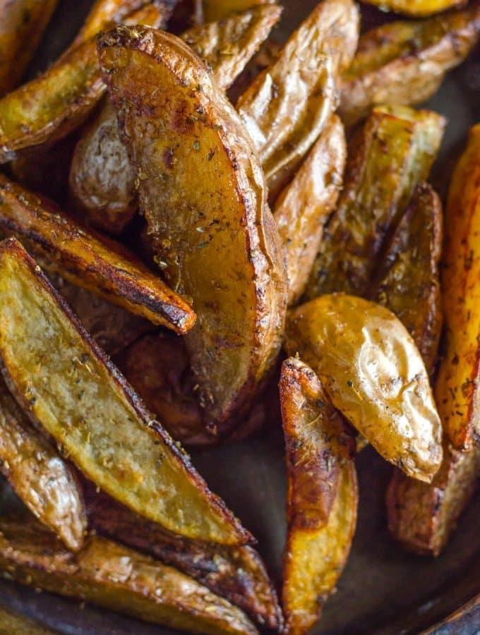 Seasoned Oven Baked Potato Wedges   Go Go Go Gourmet @gogogogourmet