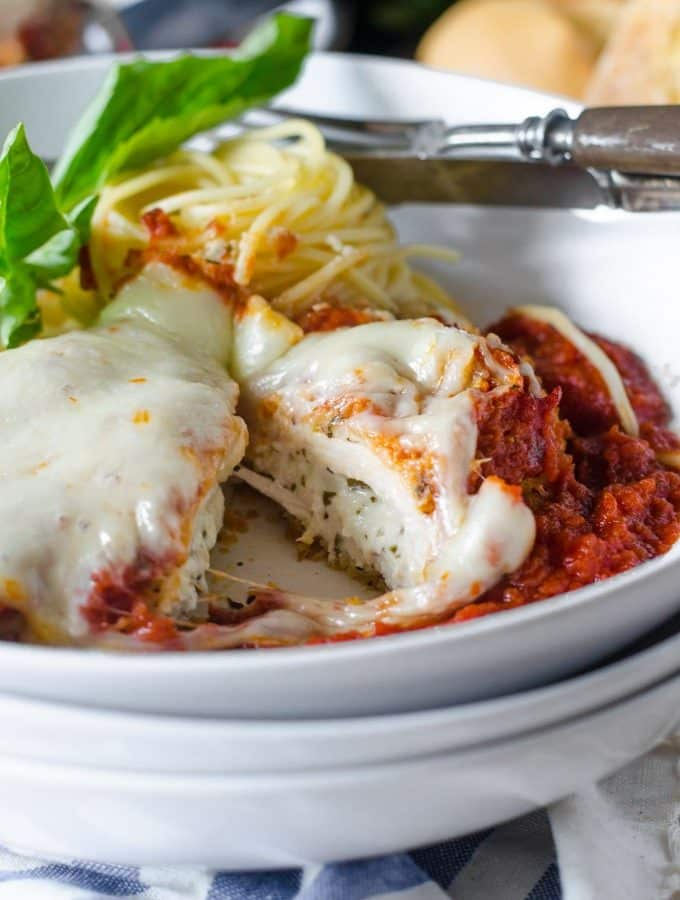 Stuffed Chicken Parmigiana