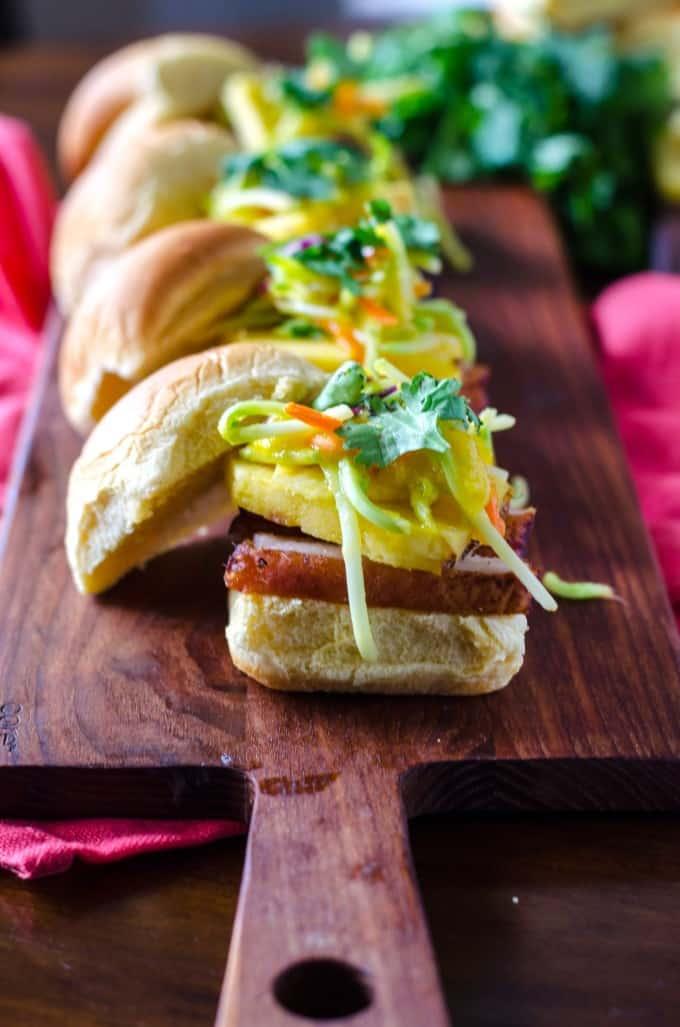 Blackened Pork Belly with Mango Pineapple Slaw | Go Go Go Gourmet @gogogogourmet