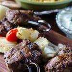Grilled Greek Gyro Kabobs with Tzatziki Sauce | Go Go Go Gourmet @gogogogourmet