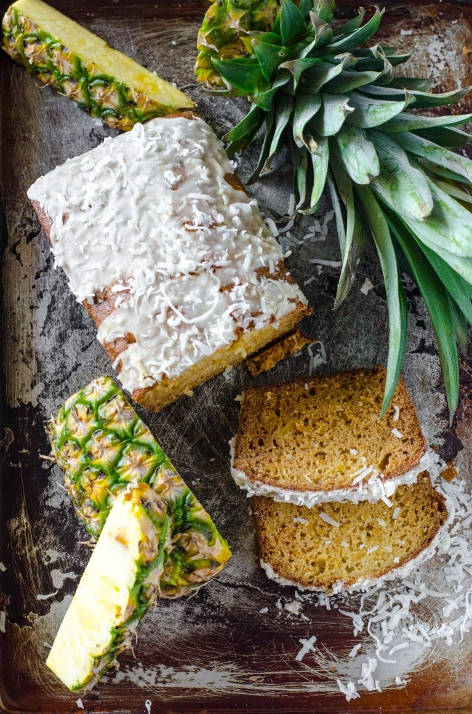 pina colada bread recipe with a pineapple