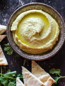 Thai Green Curry Hummus- a fast, easy and healthy snack! | Go Go Go Gourmet @gogogogourmet