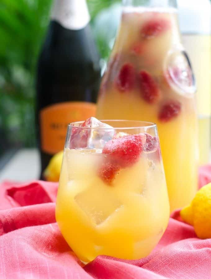 Champagne Limoncello Sangria